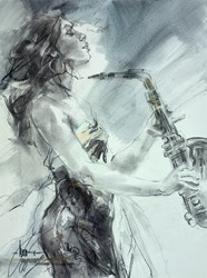 Little Theme Song by Anna Razumovskaya -  sized 18x24 inches. Available from Whitewall Galleries